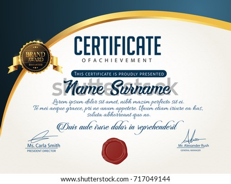 Nice And Beautiful Certificate Design Templates With Nice And Creative  Illustration.  Certificate Design Format