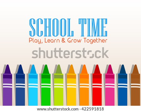 nice and beautiful vector abstract for Back to School with nice and creative crayons illustration in a creative background. - stock vector