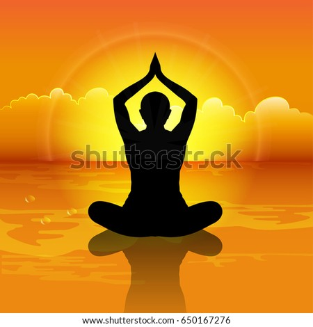 Nice And Creative Abstract Banner Or Poster For International Yoga Day With