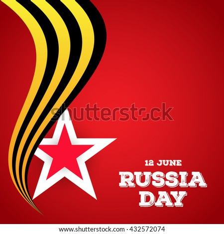 nice and creative vector abstract for Russia Day or Independence Day of Russia with nice and creative illustration in a background.