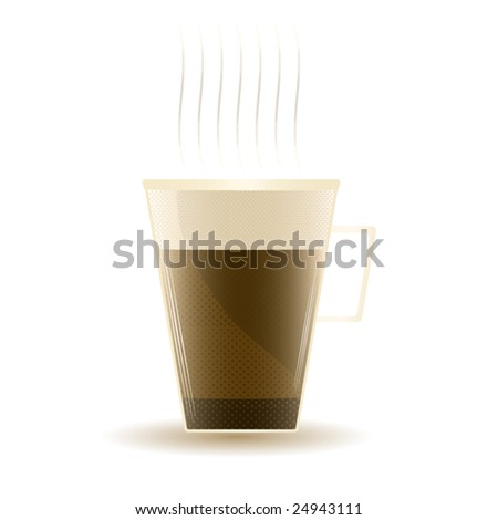 Nice cup of coffee - stock vector