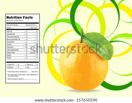 nice design for orange background  - stock vector
