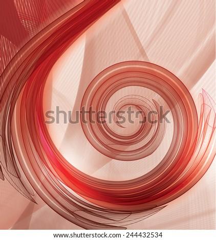Nice flight tissue in swirl shape - stock vector