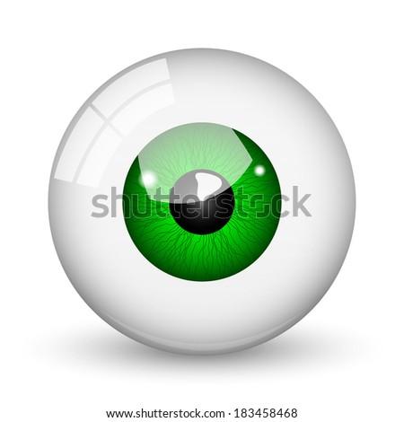 Nice green eye ball  - stock vector