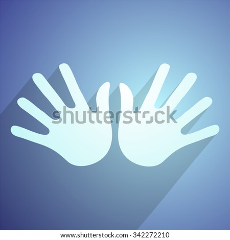 nice hands icon - stock vector