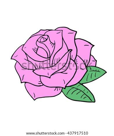 nice rose illustration - stock vector