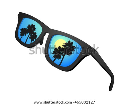nice summer sunglasses illustration