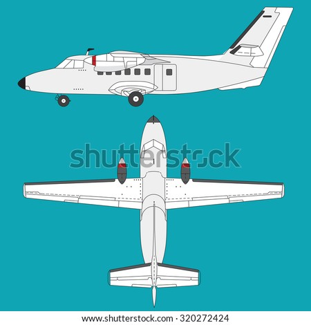 Nice white clear airplane on sky â?? lying plane  â?? background for poster â?? illustration for web page - stock vector