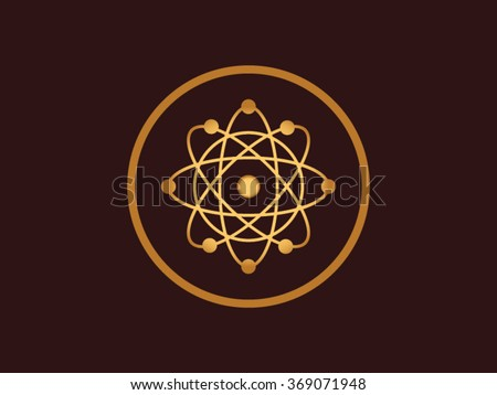 Niels Bohr Atom Model - stock vector