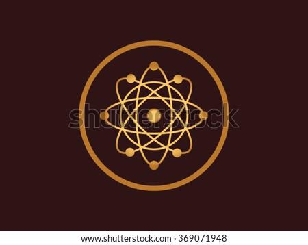 Niels Bohr Atom Model - stock vector