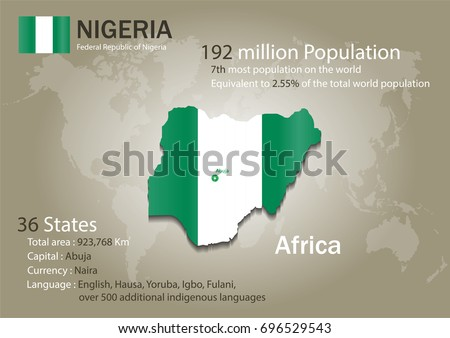 Nigeria world map country flag texture stock vector 2018 696529543 nigeria world map with a country flag texture world map geography gumiabroncs Image collections