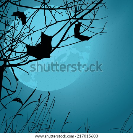Night background - the Halloween. Vector.
