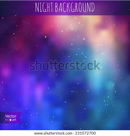 Night background. Vector illustration - stock vector
