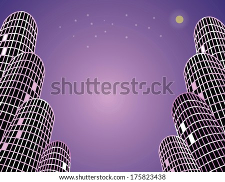 Night city background - stock vector