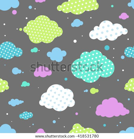 night clouds seamless pattern