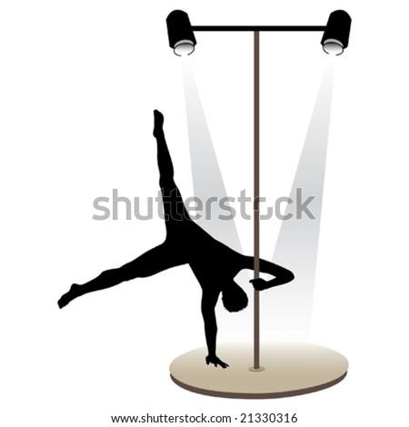 Night club striptease dancers vector illustration - stock vector