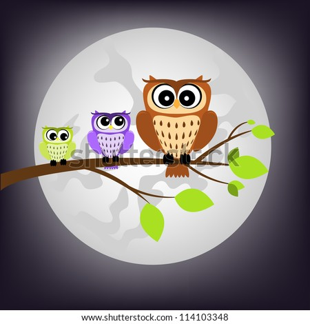 night owl - stock vector