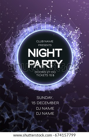 night party dance poster background event stock vector royalty free