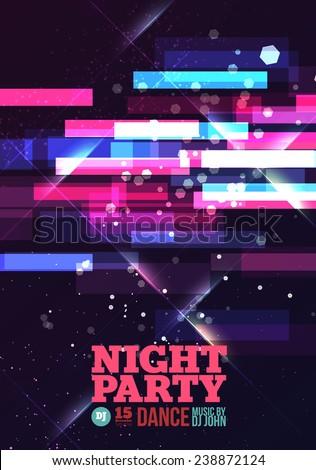 Night party Vector - stock vector
