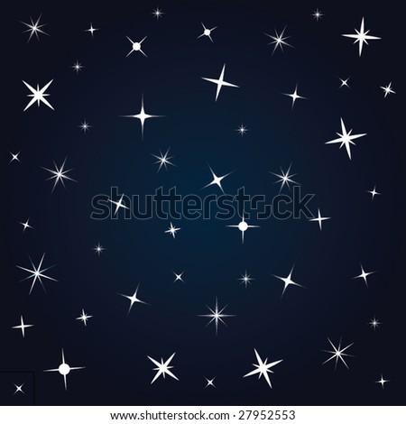 Night sky - stock vector