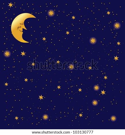 night sky background  with stars, vector