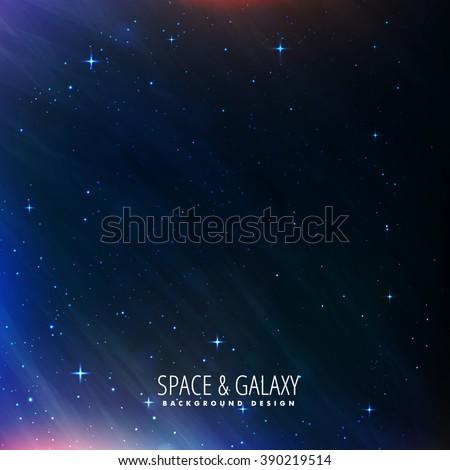 night sky universe background - stock vector