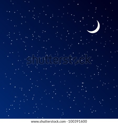 Night Sky. Vector illustration. - stock vector