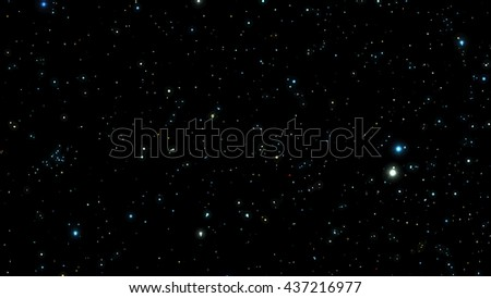 Night sky with bright stars. Vector