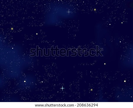 Night sky with stars- EPS 10 - stock vector