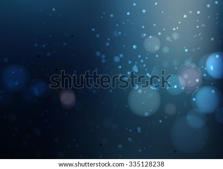 night snow beautiful Christmas dark vector background - stock vector