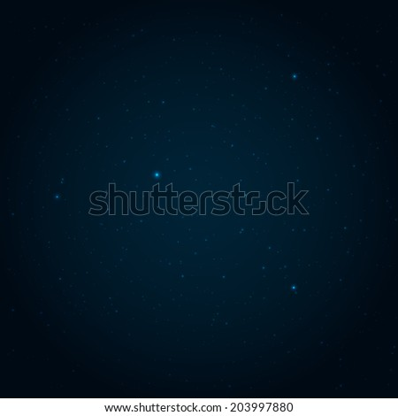 Night starry sky vector background - stock vector