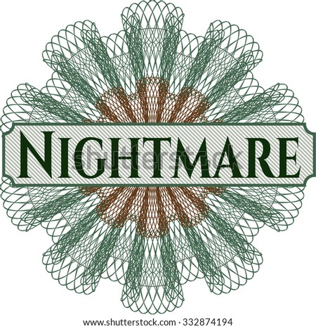 Nightmare abstract linear rosette - stock vector