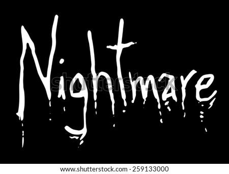nightmare art symbol - stock vector