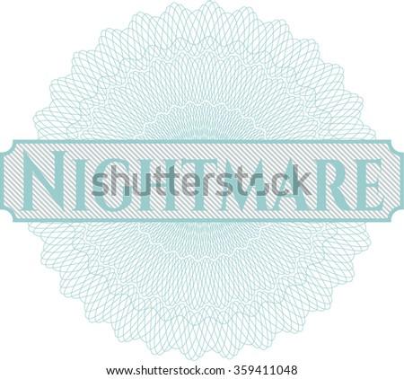 Nightmare money style rosette - stock vector