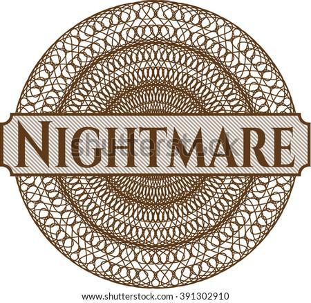 Nightmare rosette (money style emplem) - stock vector