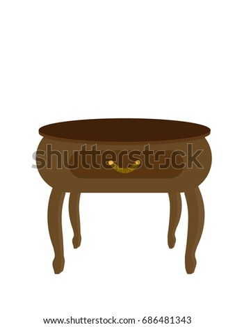 Nightstand bedside table bedside table stylish stock vector royalty nightstand a bedside table bedside table a stylish part of the interior watchthetrailerfo