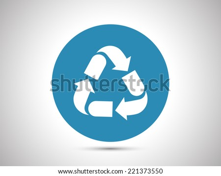 Nine different recycling icon - stock vector