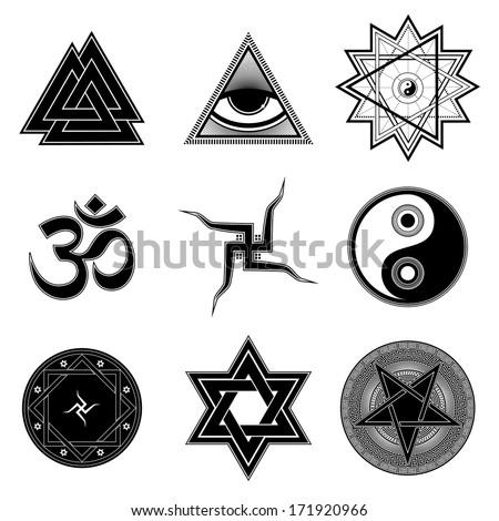 Nine Different Religion Symbols Stock Vector 171920966 Shutterstock