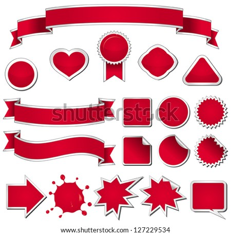 Nineteen design elements in red.