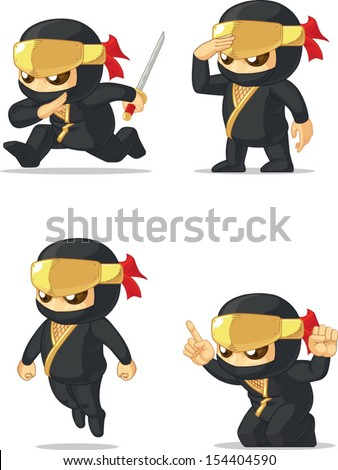 Ninja Customizable Mascot - stock vector