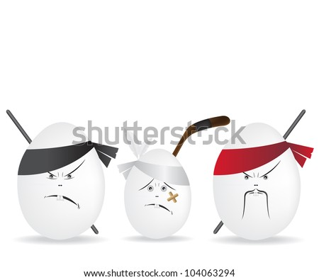 Ninja eggs illustration