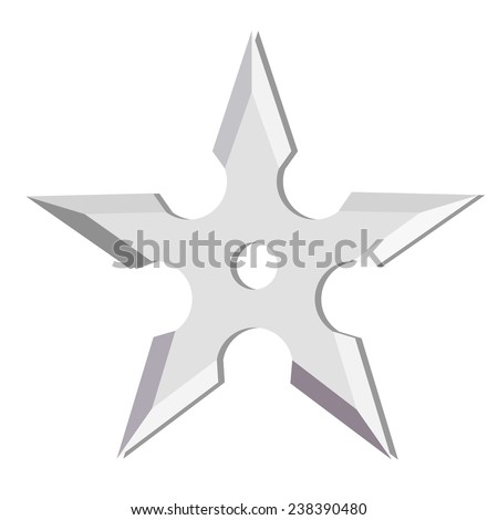 Ninja Stars Ninja Throwing Star Isolated