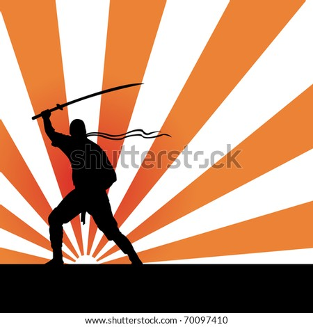 ninja vector - stock vector