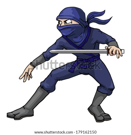 Ninja, vector illustration