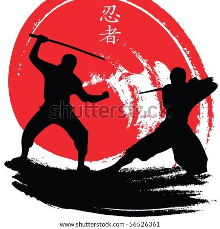 ninjas - stock vector