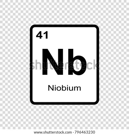 Nickel chemical element sign atomic number stock vector 796355194 niobium chemical element sign with atomic number chemical element of periodic table urtaz Images