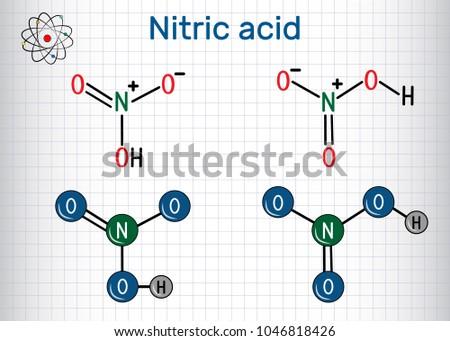 Nitric Acid Hno 3 Molecule Highly Corrosive Stock Vector 1046818426