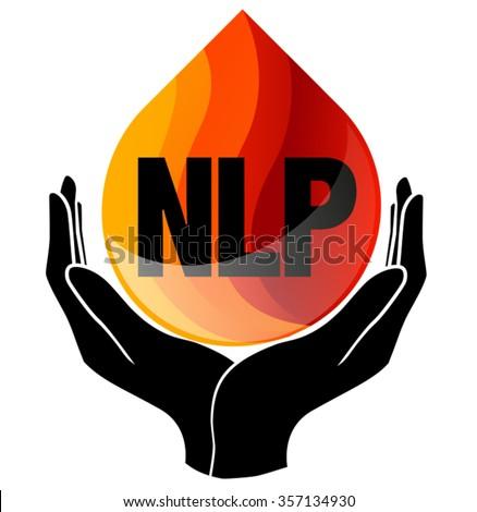 NLP Natural Language Processing symbol - stock vector