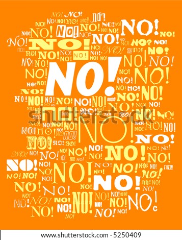 NO! - stock vector