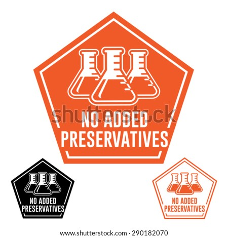 No added Preservatives Icon - stock vector